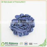 Solid color velvet ribbon bow hair clips for kids