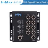InMax M508B 24V 1000M X-code 8 Port M12 Railway Gigabit Industrial Ethernet Switch