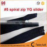 China factory of close end nylon zipper reverse zipper for sportswears