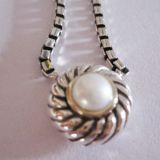 Sterling Silver Jewelry Large Pearl Color Classics Necklace(N-062)