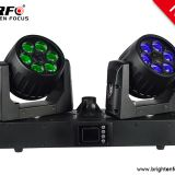 6X15W Wash Zoom Twins Moving Head Lights
