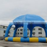 Cool water fun giant inflatable round water swim pool with cover