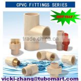 Good Quality CPVC Plastic Pipe Fittings manufacturer for hot water