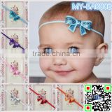 Wholesale 2015 baby sequin bows hair accessories set blingbling glitter headband MY-BA0002