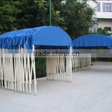 Logo according to customer need prefab wooden carport