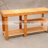 Modern design living room furniture ottoman bamboo step stool