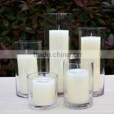 glass candle jar colored lid glass candle latern clear glass flower vase for centerpiece                                                                         Quality Choice