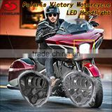 New products 2016 led motorcycle headlight motorbike headlamp for polaris victory