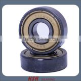 Spin 5 minutes 20 seconds Titanium black color 608 8mm bore 8*22*7 ABEC-7 long board sk8 inline skate bearing