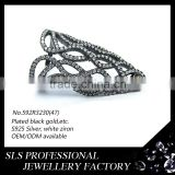925 silver jewelry wholesale black gold rings fingernail rings for women's rings jewellery accessories