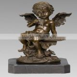 Bronze nude baby angel sculpture