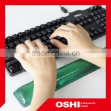 High quality best sale hot selling health-care hand protector green gel keyboard wrist pad