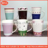 sticker printing for mug ceramic cup coffee with handle