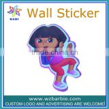 little girl pattern foam wall sticker
