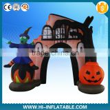 Newest Halloween arch inflatable, haunted house and witch & dead tree yard decoration