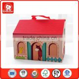 christmas gift set portable play set-farm set 9 different animals in a house box learning toy manufacturer