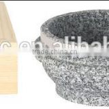 Stone cooker pot with wood frame stone cookware granite stone