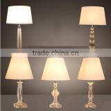 Crystal Table Lamp Fabric Shade Bedside Lamp Project Lightings Hotel Home