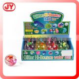 Colorful crystal led bouncing ball with flashing ribbon