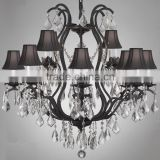 Interior Decor Luxury Antique Crystal Chandelier Centerpieces Pendant Hanging Lamp Light Lighting CZ2570/12