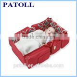 Outdoor foldable crib for baby, Free sample carry foldable baby travel cot bag