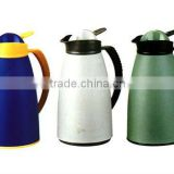 Plastic Coffee maker with easy pouring button and well designed handle for comfortable using