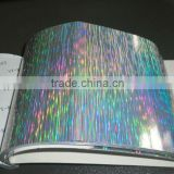 50 microns PET Rainbow holographic self adhesive film
