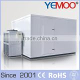 hangzhou Yemoo beer cooler room with PU sandwich panel and inside refrigeration equipment for cold room project