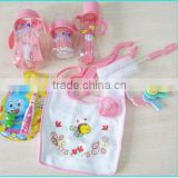 Hot sales baby feeding bottle with spoon gift set