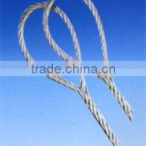 Nylon Lifting Slings Plastic/PVC Coated Galvanized Steel WIre Rope 7x7 Slings With Steel Wire Rope Fittings
