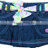 children belted denim dress mini skirt kids clothes babywear baby clothing