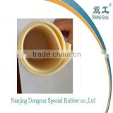 high tearing resistance silicon beige rubber sheet