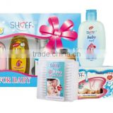 6pcs Baby Bath Gift Set With Baby Shampoo Baby Lotion Baby Oil Baby Soap
