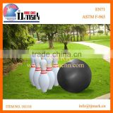 giant inflatable bowling set game/inflatable bowling pin for kids