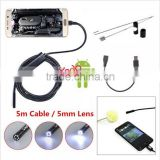 1.3MP 5.5mm 6-LED IP67 Waterproof Android Video Borescope Camera 5mm USB Inspection Camera
