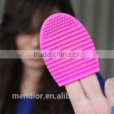 Mendior Brushegg cosmetic scrubber board makeup brush cleaner tool 11 colors OEM custom brand