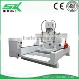 4 axis Buddha cnc equipment for rotary axis 3d wood furniture columns sofa stair handrail MDF statue