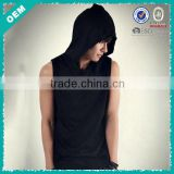 Pullover With Hood Cotton Man Tank Top (lyt-060116)