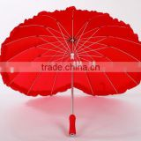 fashion wedding heart shaped umbrella