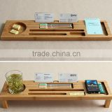 100% eco-friendly bamboo desk organizer nwe design desks storage with phone stand phone holder