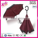 2016 New Design C Shape Handle Inverted Umbrella