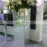 Mirror glass vase for decoration