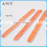 Nail Manicure Orange Emery Sand Paper Round Nail FIle 100/180