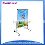 China Excellent Display Equipment of Double Side Advertisement A1 Size Wheeled Poster Stand