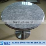Carrara Coffee Round Marble Top Italian Round Marble Table