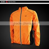 Breathable Cycling Yellow Waterproof Jacket Waterproof with Glance Article Design for Men