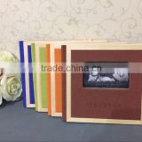 "Solid wooden frame cute children photo book cover Square 8"" Square 10"" 4 colors"
