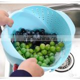 Best selling kitchen cooker wash vegetable fruit plastic washing basket,draining basket ll001