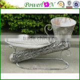 Hot Selling Durable Wrough Iron Bird Freeder Plant Stand Garden Ornament For Patio Backyard Decking I28M TS05 X00 PL08-6135