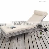 Modern Rattan Sunbed -Patio Outdoor Sun Lounger - Synthetic Rattan Gerneral Use Outdoor Sunbed